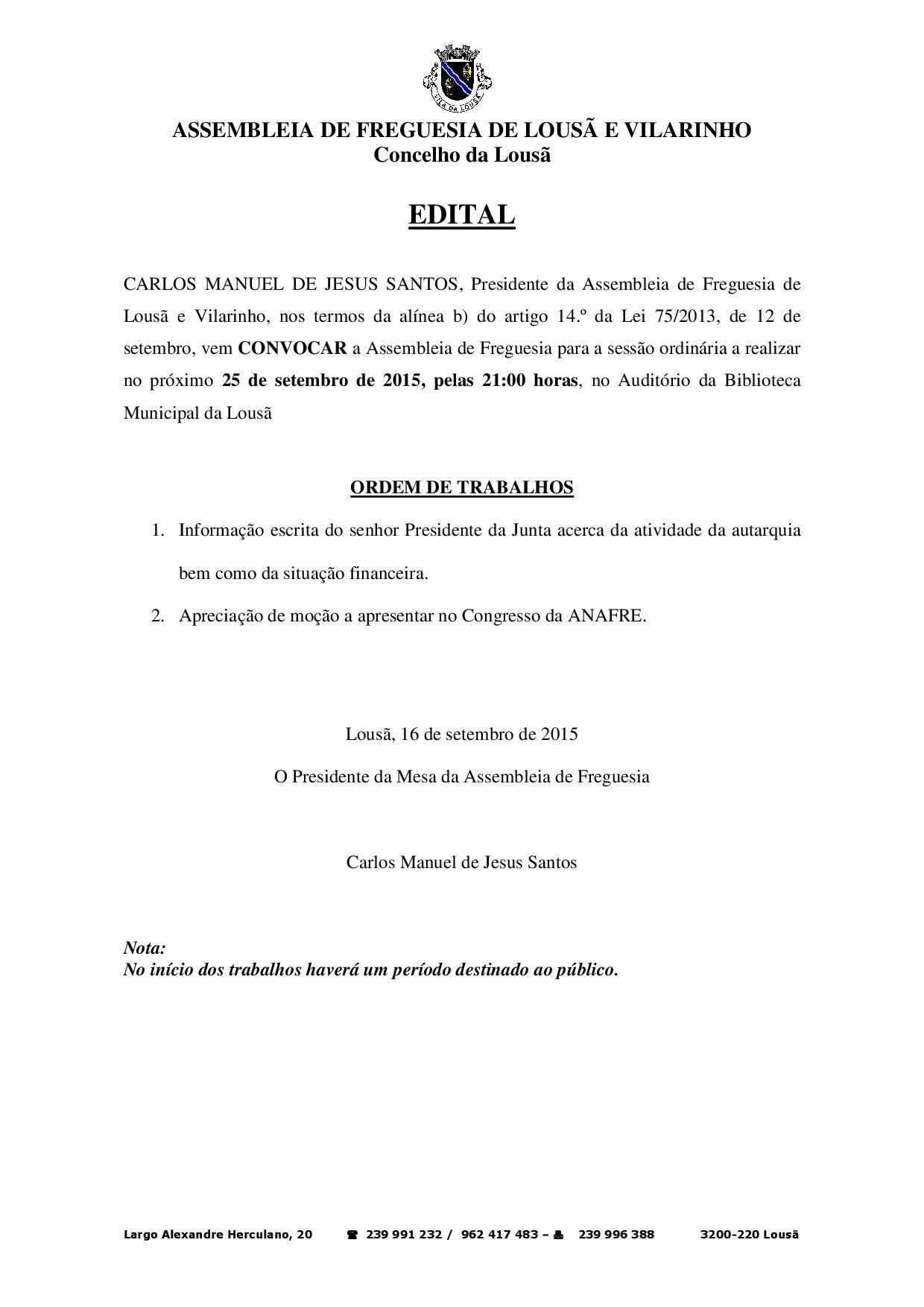 Edital AF